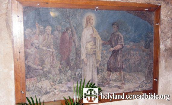 革責瑪尼窟內的壁畫:「猶達斯親吻耶穌」
