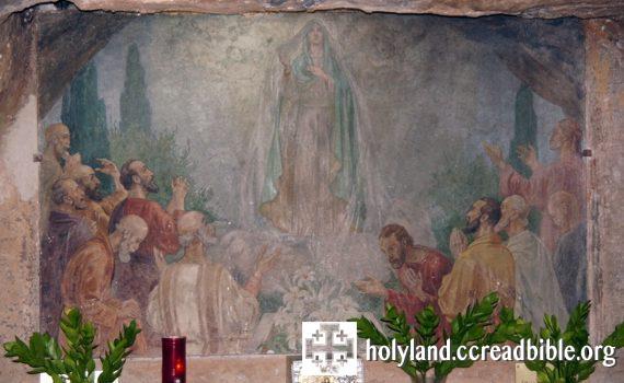 革責瑪尼窟內的壁畫:「聖母升天」