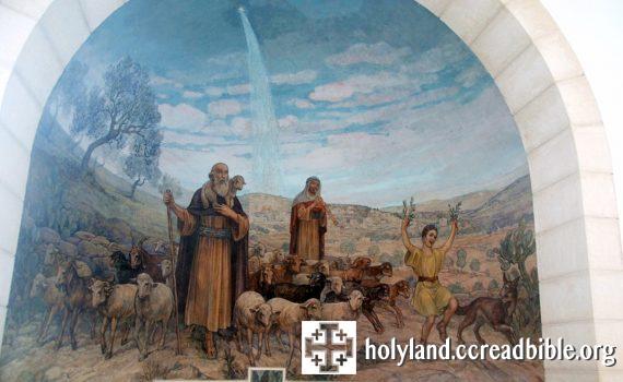 聖堂內的壁畫:牧羊人歡喜的離去